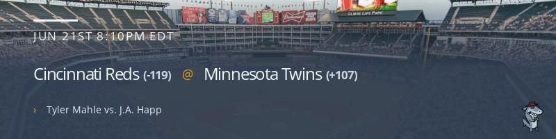 Cincinnati Reds @ Minnesota Twins - June 21, 2021