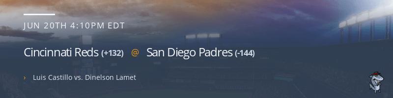 Cincinnati Reds @ San Diego Padres - June 20, 2021
