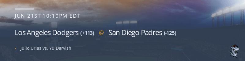 Los Angeles Dodgers @ San Diego Padres - June 21, 2021