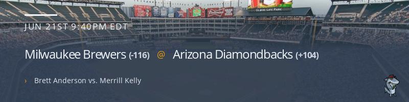 Milwaukee Brewers @ Arizona Diamondbacks - June 21, 2021