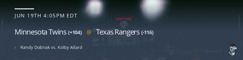Minnesota Twins @ Texas Rangers - June 19, 2021