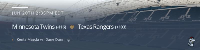 Minnesota Twins @ Texas Rangers - June 20, 2021
