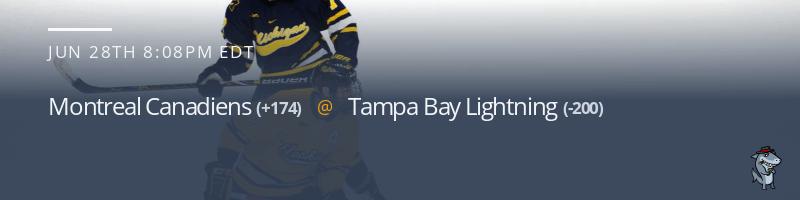 Montreal Canadiens vs. Tampa Bay Lightning - June 28, 2021