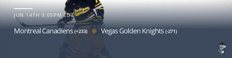 Montreal Canadiens vs. Vegas Golden Knights - June 14, 2021