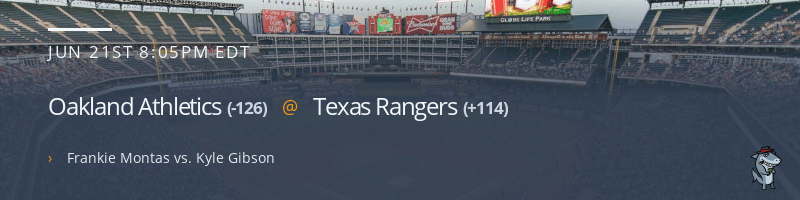 Oakland Athletics @ Texas Rangers - June 21, 2021