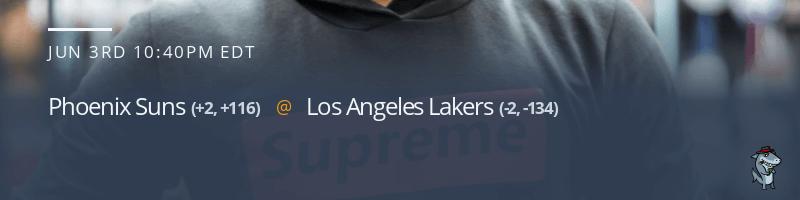 Phoenix Suns vs. Los Angeles Lakers - June 3, 2021
