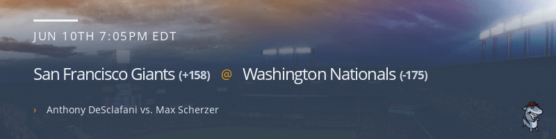 San Francisco Giants @ Washington Nationals - June 10, 2021