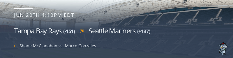 Tampa Bay Rays @ Seattle Mariners - June 20, 2021
