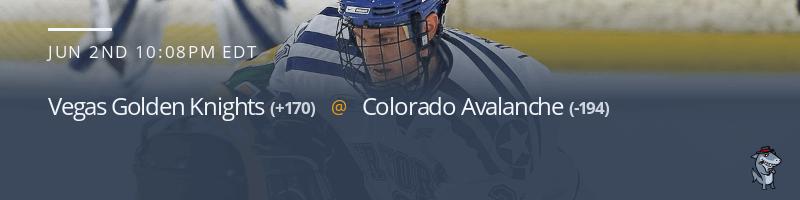 Vegas Golden Knights vs. Colorado Avalanche - June 2, 2021