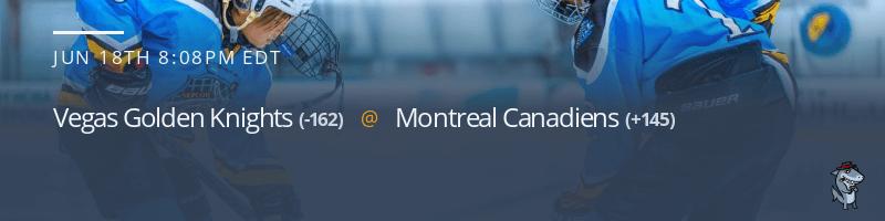 Vegas Golden Knights vs. Montreal Canadiens - June 18, 2021