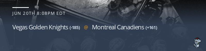 Vegas Golden Knights vs. Montreal Canadiens - June 20, 2021
