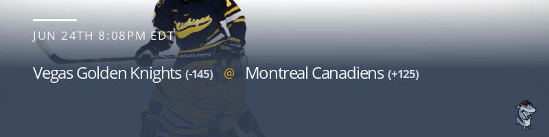 Vegas Golden Knights vs. Montreal Canadiens - June 24, 2021