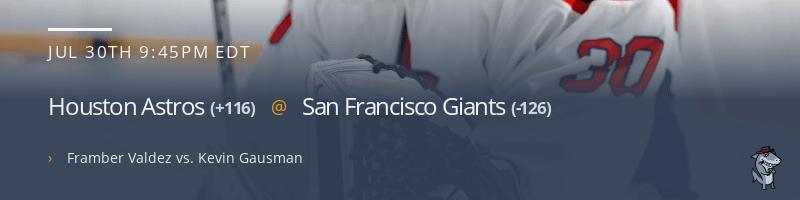 Houston Astros @ San Francisco Giants - July 30, 2021