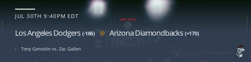 Los Angeles Dodgers @ Arizona Diamondbacks - July 30, 2021