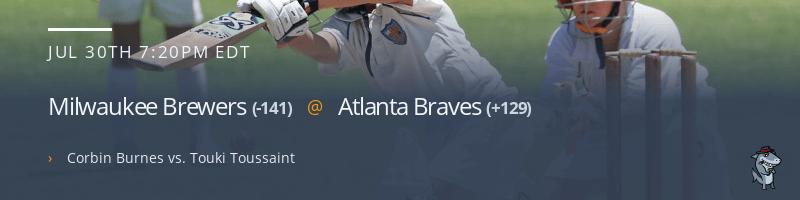 Milwaukee Brewers @ Atlanta Braves - July 30, 2021