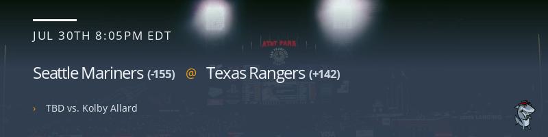 Seattle Mariners @ Texas Rangers - July 30, 2021