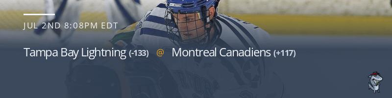 Tampa Bay Lightning vs. Montreal Canadiens - July 2, 2021