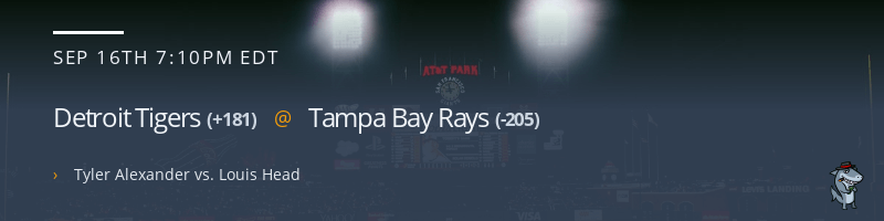 Detroit Tigers @ Tampa Bay Rays - September 16, 2021