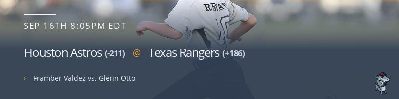Houston Astros @ Texas Rangers - September 16, 2021